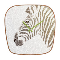 Belle13 The Intellectual Zebra Modern Clock