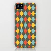 Grey Argyle iPhone & iPod Case by Louise Machado
