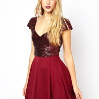 ASOS Sequin Top Skater Dress