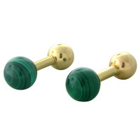 Tiffany & Co Gold Malachite Cufflinks