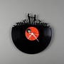 Moon Face: Vinyl Wall Clocks