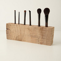 Oakwood Makeup Brush Holder