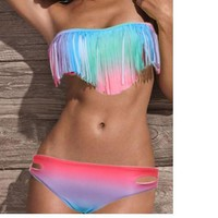 u Gradient tassel bikini from foreverunique