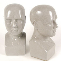 PLASTICLAND - Apothecary Phrenology Head Ceramic Bookends