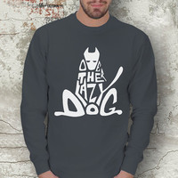 Typographic Dog Men Basic Sweatshirt / Special Production (Limited Edition)