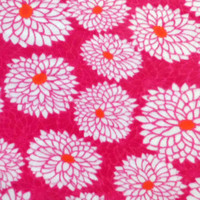 72'' No Sew Fleece Throw-Pink Zinnia at Joann.com