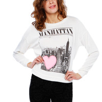MANGATTAN GRAPHIC TOP