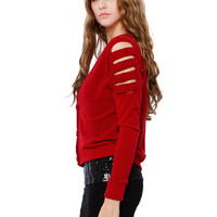 SHOULDER YOKE KNIT CARDIGANS