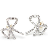 girlsluv.it - big RIBBON stud earrings with crystals, 2 colors