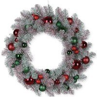 "Napco Christmas Decoration, 30"" Mixed Candy Wreath"