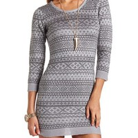 FAIR ISLE PRINT SWEATER DRESS