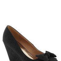 Party Hostess Wedge in Black | Mod Retro Vintage Heels | ModCloth.com