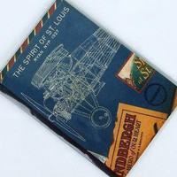AEROPLANE BLUEPRINT PASSPORT COVER by sugarcanetrain808 on Etsy
