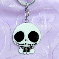 Cool Cartoon Skull Charms Keychain , Bag Backpack Purse Accessories Charms , Keyring , Key Chain