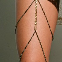 Antique Gold Chain Leg Garter - ACCESSORIES - Shop Online