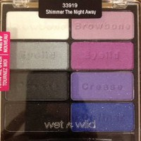 Wet n Wild 8 Color Pan Palette Shimmer The Night Away 33919