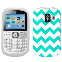 Alcatel One Touch 871A Chevron Turquoise and White Pattern Phone Case Cover