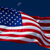 Blowing in the wind, America the beautiful. Stars and stripes flag for home and office décor. Title Is: 91
