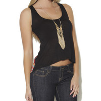Chiffon Printed Button Back Tank - WetSeal