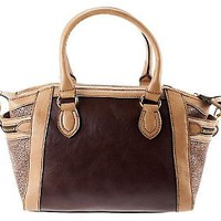 London Fog Fielding Satchel with Distressed Trim — QVC.com