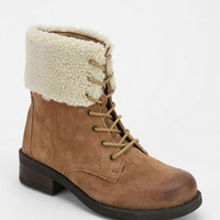 BDG Fuzzy Collar Lace-Up Boot - Urban Outfitters