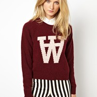 Wood Wood Prospect Sweater with AA Intarsia Design