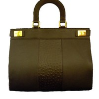 Leather Hand Held Bag by Soltek Handbags