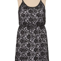 Contrast Sequin lace Tank Dress
