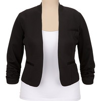 Open Front Stretch Blazer