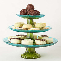 Color Blocked Cake Stand