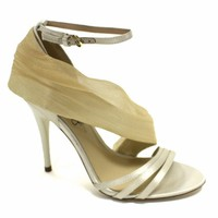 Satin Chiffon Stiletto by ABS Shoes