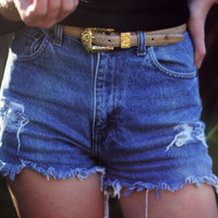 High Waisted Denim Shorts Custom Made Denim Jean Shorts Hipster Tumblr Grunge