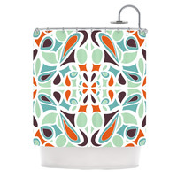"Miranda Mol ""Orange Purple Stained Glass"" Shower Curtain 