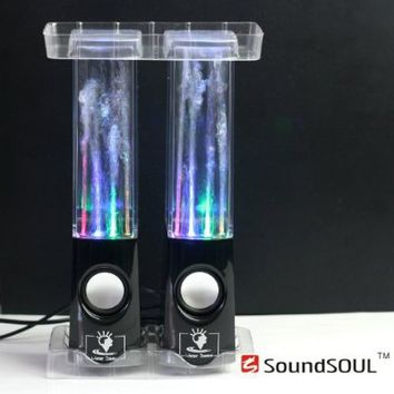 Soundsoul Music Fountain Mini Amplifier Dancing Water Speakers I-station7 Apple Speakers (black)