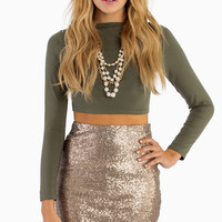 Be Seen Sequin Pencil Skirt $54