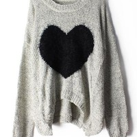 Heart Mohair Sweater JCFDG from funkycatsterz