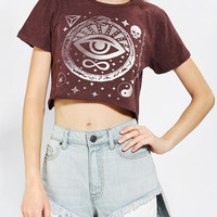 Corner Shop Staying Alive Cropped Tee - Urban Outfitters