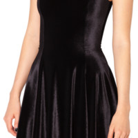 Velvet Black Evil Skater Dress - LIMITED | Black Milk Clothing