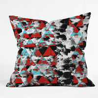 Caleb Troy Two Strip Geo Throw Pillow