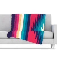 KESS InHouse Surf Fleece Throw Blanket