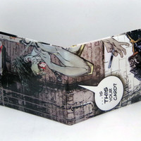 Comic Book Wallet// Batman vs Joker