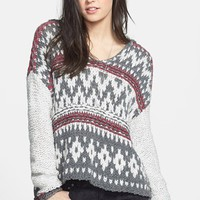 Free People Fair Isle Hooded Pullover | Nordstrom