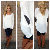All that Glitters Long Sleeve Top - White