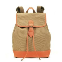 Canvas Backpack Fashion Preppy Casual Students School Bag Packsack