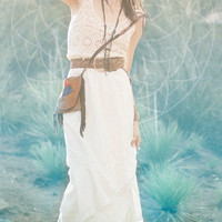illumine. fringe satchel. deerskin purse, bag, bohemian, pyramid, rainbow // free shipping in the US