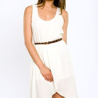 Hi Low Summer Dress- Racer Back Dress- $58