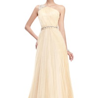 $ 109.99 Dresswe.com SUPPLIES Glamorous A-Line One-Shoulder Floor-Length Pleats Taline's Evening Dress