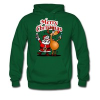 Merry Christmas - Santa Claus and his Reindeer Hoodie