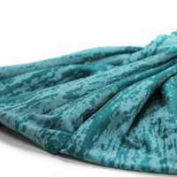 Headscarf Headband Teal Green Knit Extra Wide Headscarves Head Scarf Head Wrap (Item 2813), Size S, M, L