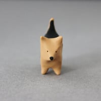 norwich terrier figurine polymer clay miniature dog totem